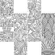 Coloring Activity Bookmark Pack- Fall design