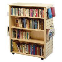 Mobile Dual Slatwall Book Display shelves