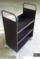 Economical Steel Book Trolley 3 Slop Shelves