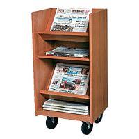 Laminate Wood Narrow Newspaper Trolley 16PMT323-3551NP