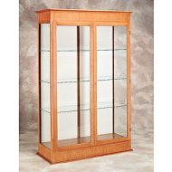 Full Height Wood Door Frame Glass Case