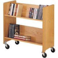 Laminate Wood Book Trolley 2 slop shelf. 14PMTB166-910
