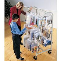Mobile Steel Hang Bags Rack