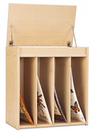 Big Books Wooden Easel Cart