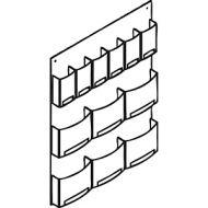 Economical Plastic Wall Mount Magazine & Literature Rack B86749001
