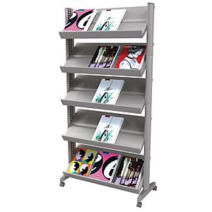 Magazine Rack- Steel & Plastic Design