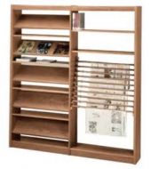 Custom Design Magazine Rack With Newspaper Display
