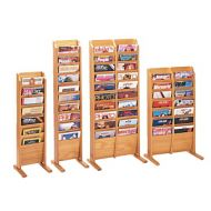 Magazine Floor Rack -Wooden Mallet Cascading Floor Rack