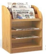 Newspaper Display Cabinet with Open Shelves