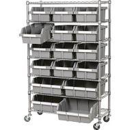 7 Tier Mobile Shelving 16 Bins. PD137-4987