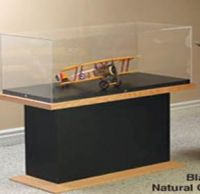 Artefact Display With Acrylic Top Case Wood Frame Base