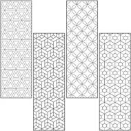 Coloring Book Mark Activity Pack -Geometric Design