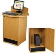 OPAC Station With Round Tabletop 14PMTB594-60375