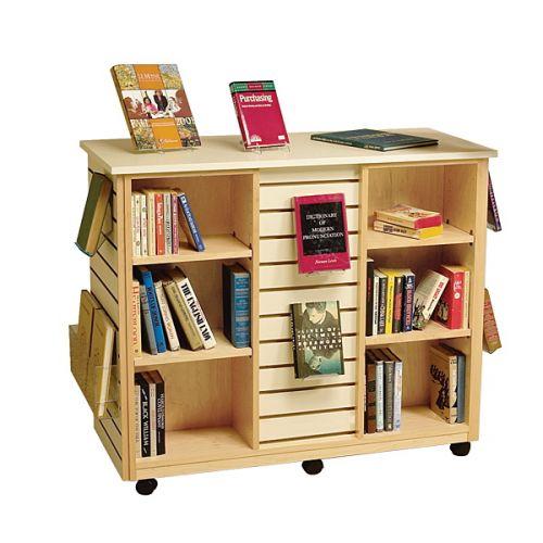 Mobile Slatwall Large Book Display Shelf 17PMT754-0922