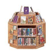 Book Display Furniture -Octagon Display Island Shelves