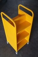 Economical End Of Range Steel Trolley 6 Sloped Shelves 17PMT287-6SER