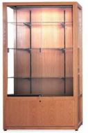 Glass Display Case With Cabinet