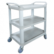 Economy Large Plastic 3 Level Utility Cart. 17PMTAMK-1183
