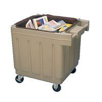 Polyethylene Book Cart w/Liner Beige PD130-7259