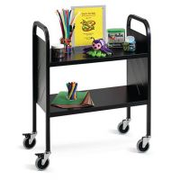 Economical Book Trolley Light Duty 2 Flat Shelf. 19PMT627-2F