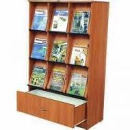 Custom Build 9 Pocket Magazine Rack With Cabinet. 15PMT-MAZ-006