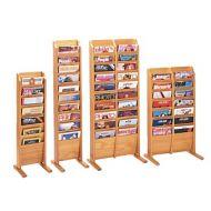 Magazine Floor Rack -Wooden Mallet Cascading Floor Rack
