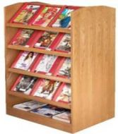 Magazine Rack Double Side Display Shelves. 15PMTB674-60017