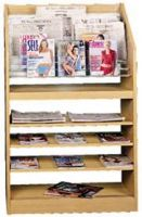 Newspaper Display Rack 3 Top cascading Pockets. 11PMTB598-60018