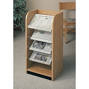 4 Slop Shelves Newspaper Rack. 16PMT840-1826