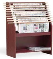 Classic Newspaper Display Rack with Back Panel 10PMT586-9806B