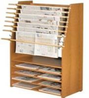 Classic Newspaper Display Rack 8 Stick with 5 shelves 15PMTB675-6019