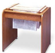 Newspaper Display in Round Corner Table Design