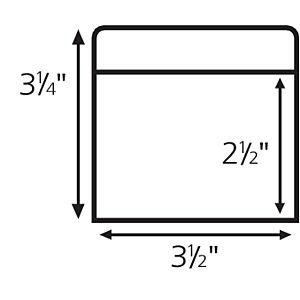 Extra Low Book Pocket pressure sensitive backing