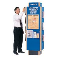 Information Kiosk 4 side Fabric Soft Board